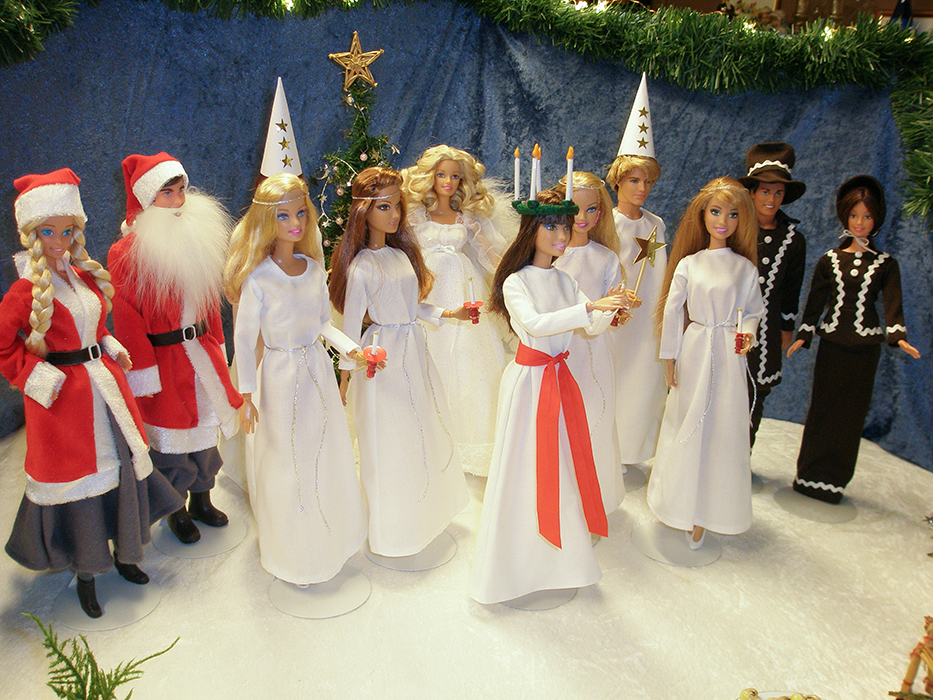 Barbie firar Lucia